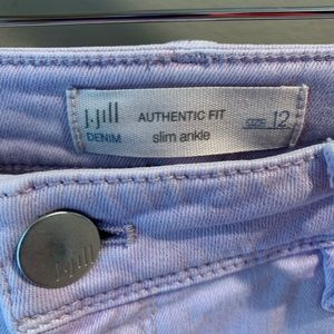 J.Jill Lavender Light Weight Denim Slim Ankle Sz12